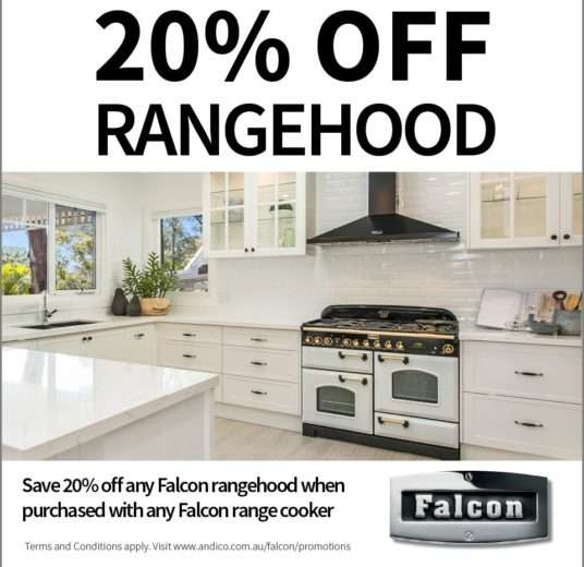 20% Off Rangehood when purchased with Falcon Oven