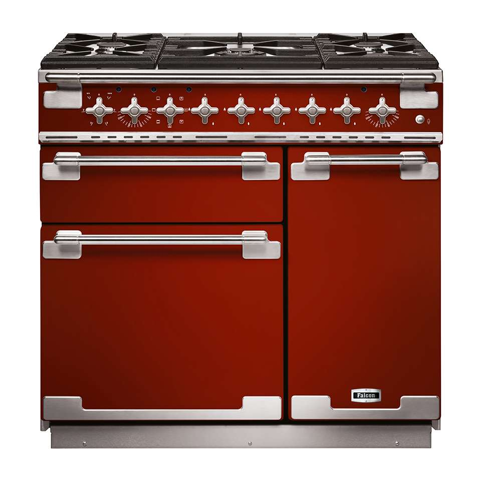 Falcon Elise 90cm Dual Fuel Oven cherry red