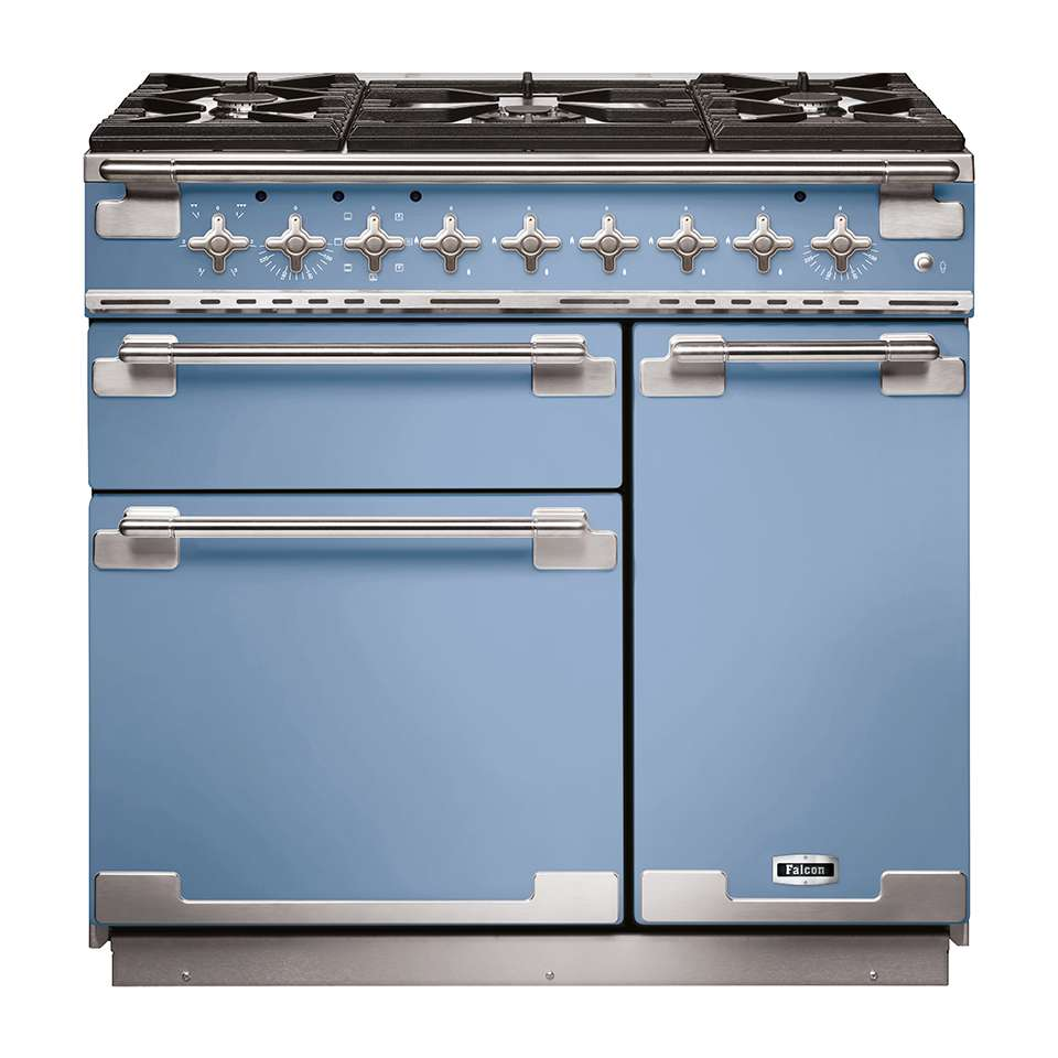 Falcon Elise 90cm Dual Fuel Oven china blue