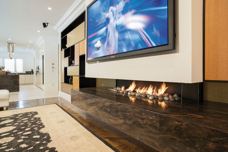 Real Flame Gas Fireplace Pure Vision